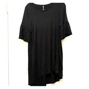 Black bell sleeve tunic top from Agnes and Dora